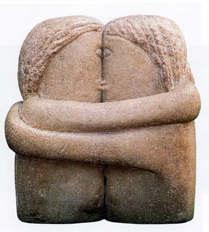 The Kiss, sculpture by Brancusi